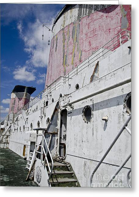 Ss United States Smokestakes By Jessica Berlin Greeting Card by Jessica Berlin
