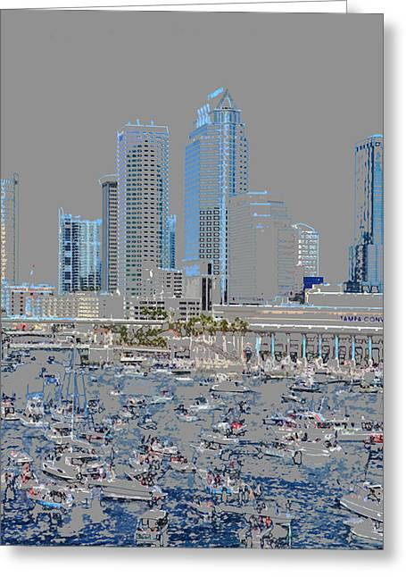 Convention Digital Art Greeting Cards - The Great City by the Bay original work Greeting Card by David Lee Thompson