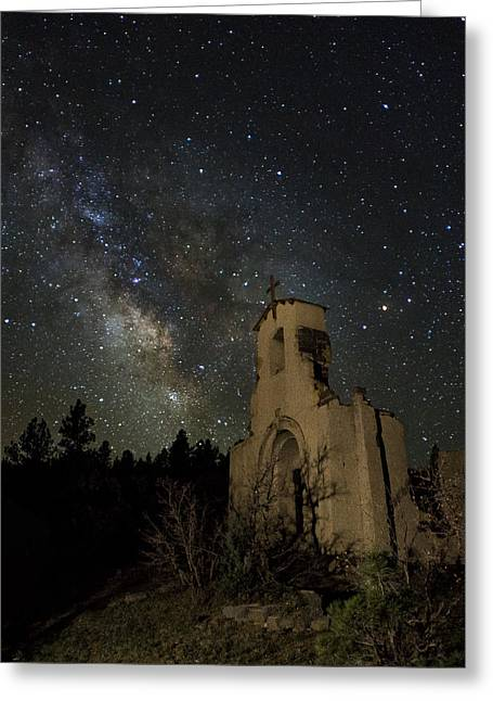 Morley Greeting Cards - St Aloysius Ruin and the Milky Way Greeting Card by David Soldano