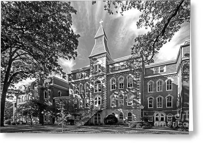 Hall Greeting Cards - St. Ambrose University Ambrose Hall Greeting Card by University Icons