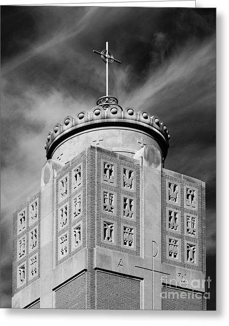 Small Towns Greeting Cards - St. Ambrose University Christ the King Chapel Greeting Card by University Icons