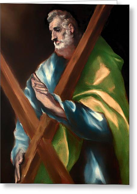 Religious Artwork Paintings Greeting Cards - St Andrew Greeting Card by El Greco