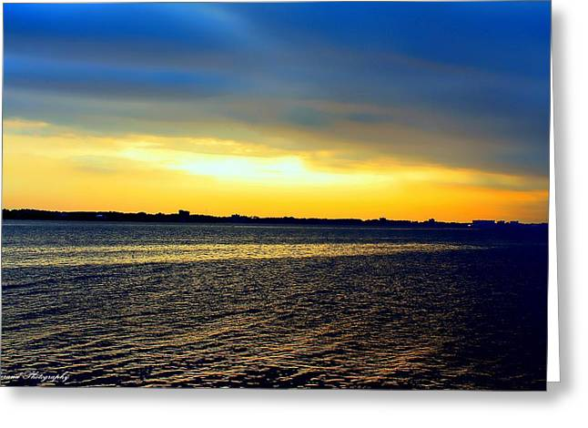 St Andrews Bay Sunset Greeting Card by Debra Forand