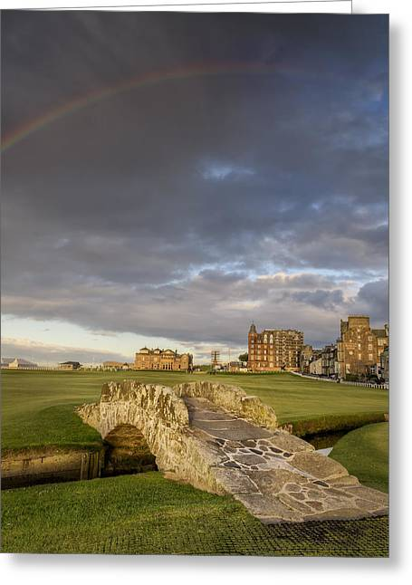 Hay Bale Greeting Cards - St Andrews Bridge Greeting Card by Chris Frost