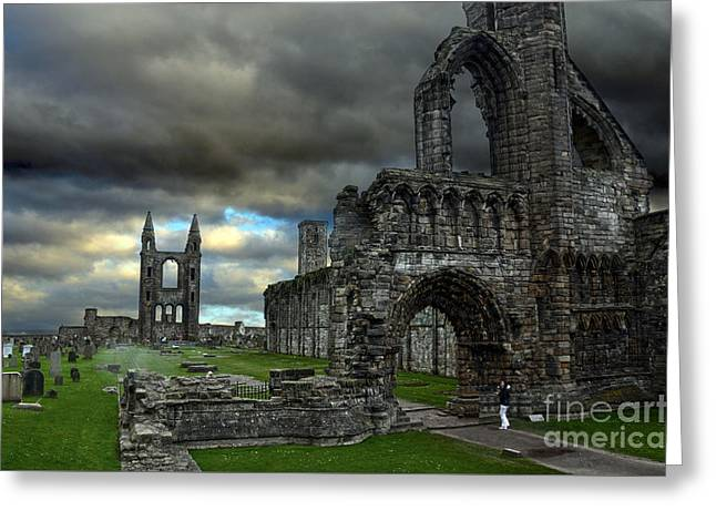 The Church Greeting Cards - St Andrews Cathedral and gravestones Greeting Card by RicardMN Photography