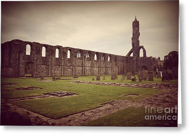 Catholic Pyrography Greeting Cards - St Andrews Cathedral Greeting Card by Miryam  UrZa