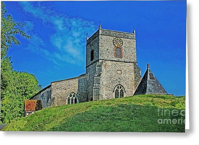 Terri Waters Greeting Cards - St Andrews Church Nether Wallop Greeting Card by Terri  Waters