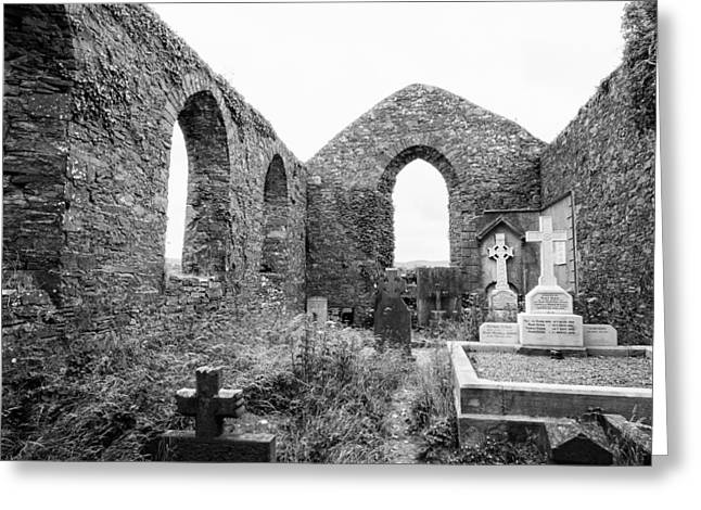 Ennistymon Greeting Card featuring the photograph St. Andrews Church Ruins by Ron St Jean
