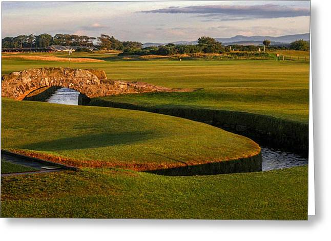 The Link Photographs Greeting Cards - St. Andrews Links Golf Course Hole Bridge Greeting Card by Rich Image