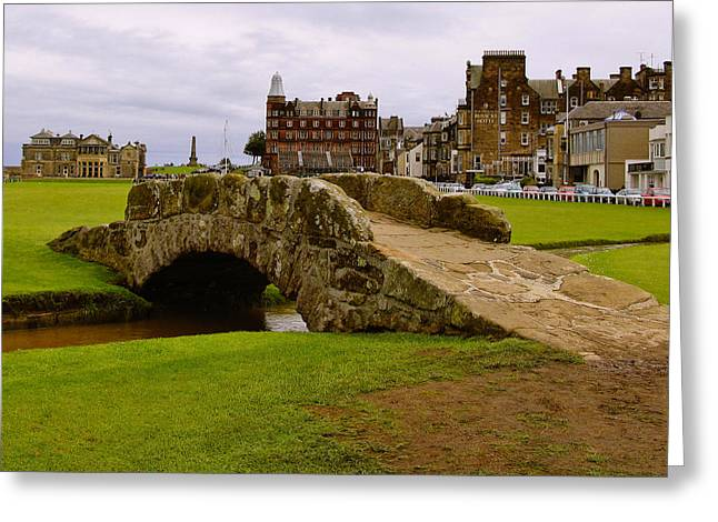 Professional Golf Greeting Cards - St. Andrews Links Golf Course Swilcan Bridge 18th Hole Greeting Card by Rich Image