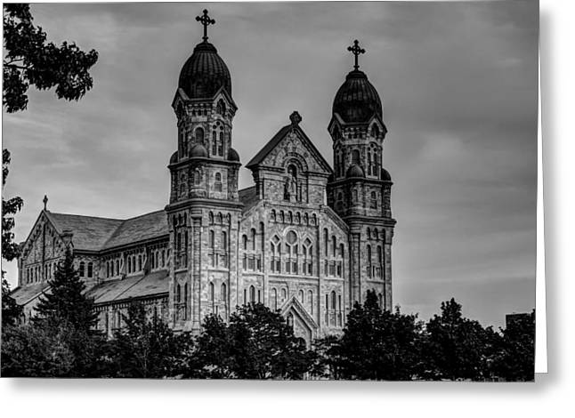 Apacheco Greeting Cards - St Annes Church Fall River MA Greeting Card by Andrew Pacheco