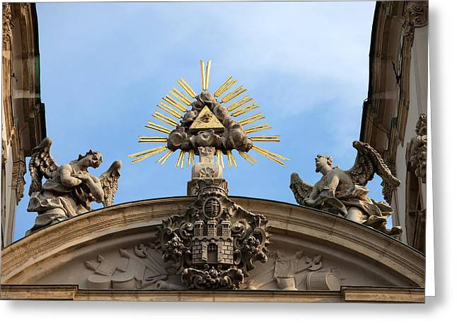 Sculpture Relief Greeting Cards - St Annes Church in Budapest Architectural Details Greeting Card by Artur Bogacki