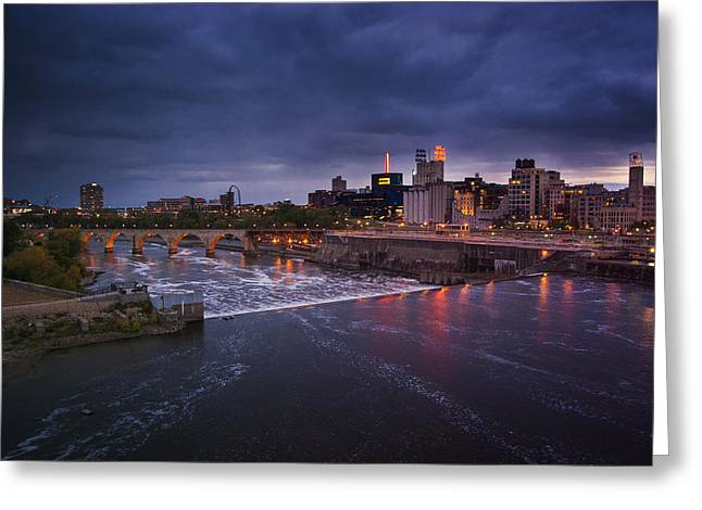 Minnesota Photographs Greeting Cards - St. Anthony Falls Greeting Card by Bryan Scott