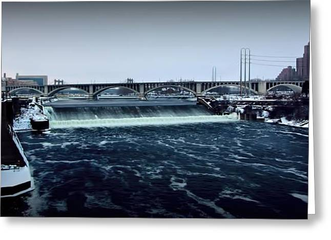 St Anthony The Great Greeting Cards - St Anthony Falls Minneapolis Greeting Card by Amanda Stadther