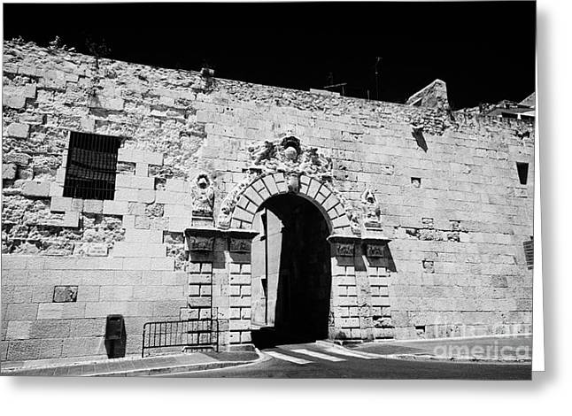 Catalunya Greeting Cards - St Antonys Gate In The Wall Of The Roman Ruins Of Tarraco Unesco World Heritage Site Tarragona Catal Greeting Card by Joe Fox