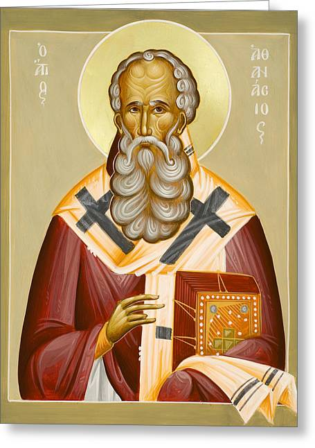 Julia Bridget Hayes Greeting Cards - St Athanasios the Great Greeting Card by Julia Bridget Hayes