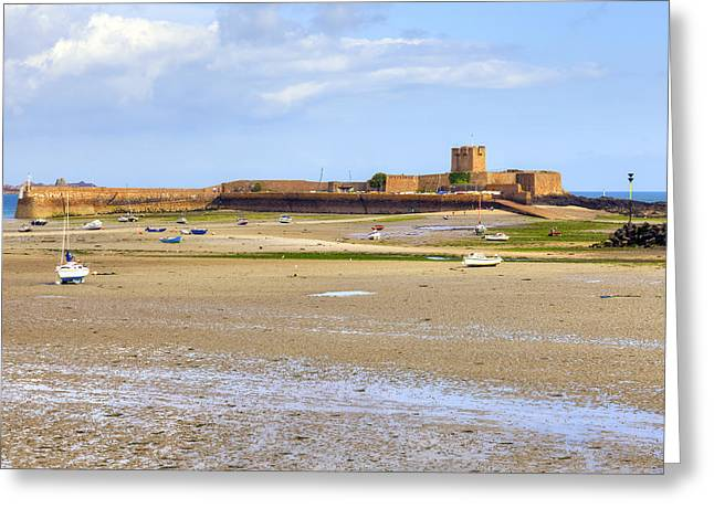 St Aubin's Fort - Jersey Greeting Card by Joana Kruse