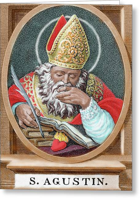 St Augustine (354-430 Greeting Card by Prisma Archivo