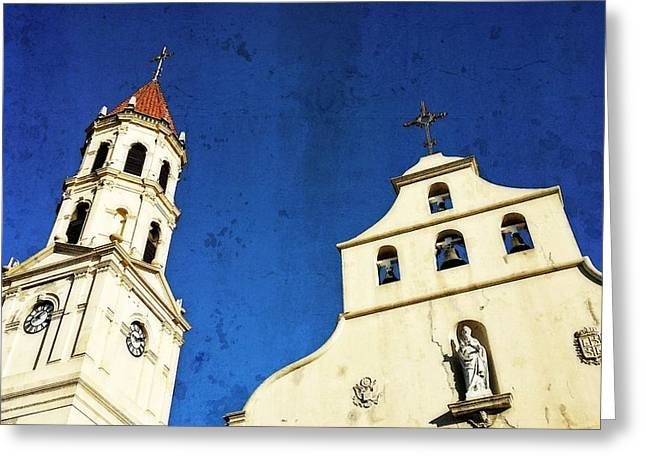 Old Churches Greeting Cards - St. Augustine Florida by Sharon Cummings Greeting Card by Sharon Cummings
