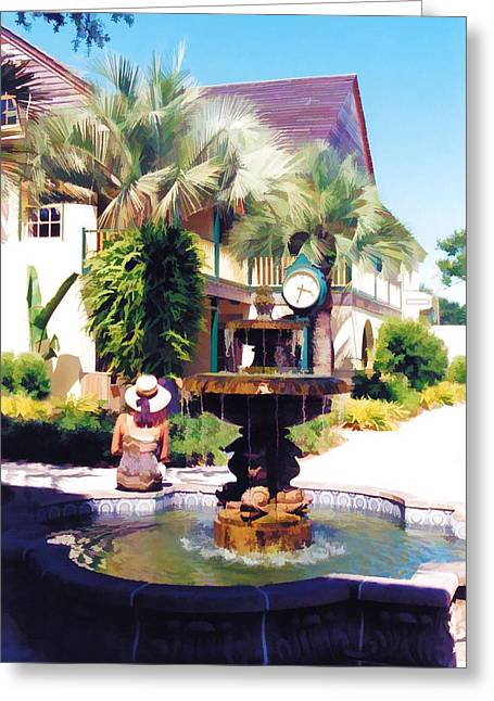 St. Augustine Fountain Greeting Card by Jan Amiss Photography