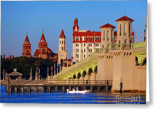 Market St Bridge Greeting Cards - St. Augustine In Spires Greeting Card by Phil King