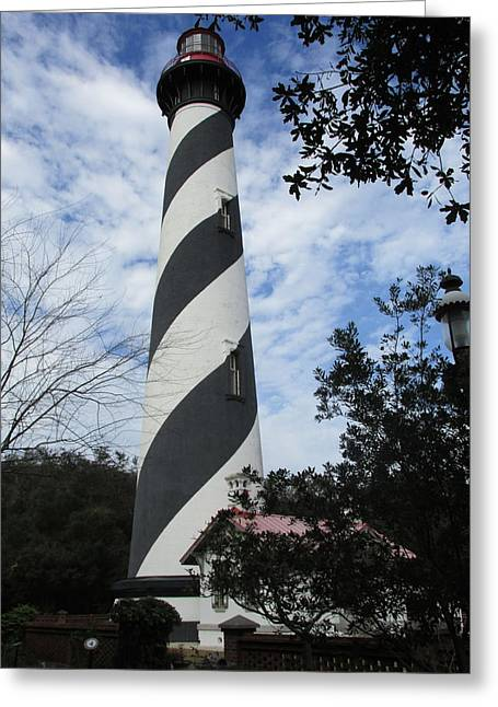 Saint Hope Greeting Cards - St. Augustine Light Lighthouse Greeting Card by Nomad Art And  Design