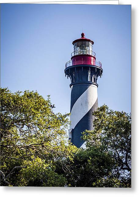 Watch Tower Greeting Cards - St. Augustine Lighthouse Greeting Card by Carolyn Marshall