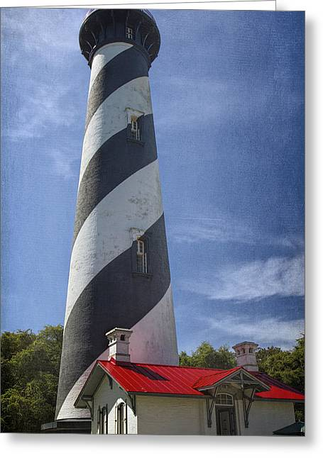 Historic Home Greeting Cards - St Augustine Lighthouse Greeting Card by Joan Carroll