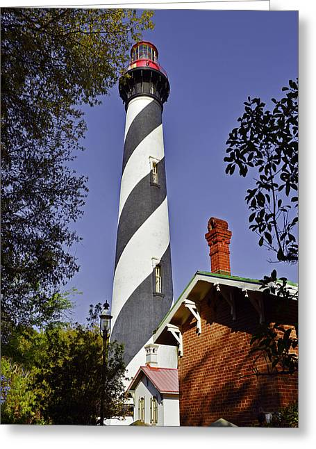 Watch Tower Greeting Cards - St Augustine Lighthouse - Old Florida Charm Greeting Card by Christine Till