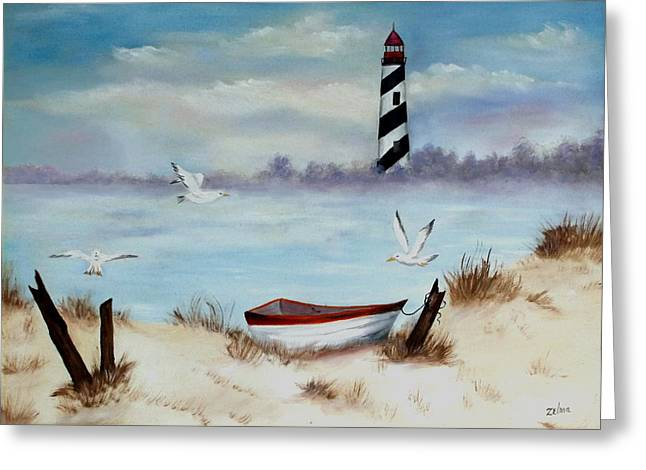 Zelma Hensel Greeting Cards - St. Augustine Lighthouse Greeting Card by Zelma Hensel