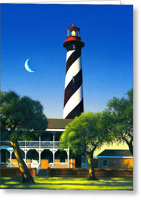 St Augustine Greeting Card by MGL Studio - Chris Hiett