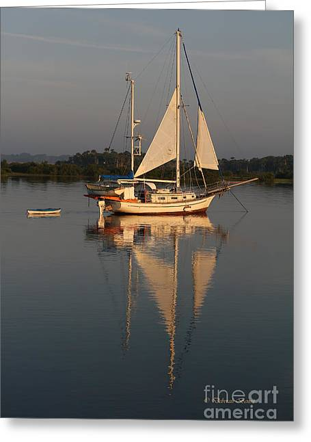 Dingy Greeting Cards - St. Augustine Morning Greeting Card by Deborah Benoit
