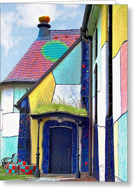 Mosaic Greeting Cards - St Barbara Church - Baernbach Austria Greeting Card by Christine Till