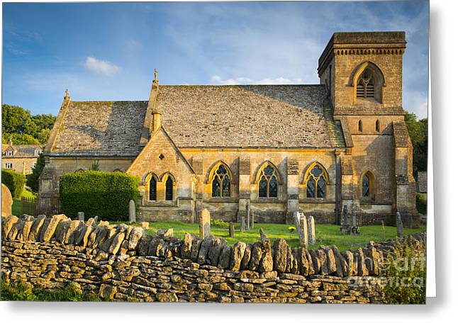 Headstones Greeting Cards - St Barnabas Greeting Card by Brian Jannsen