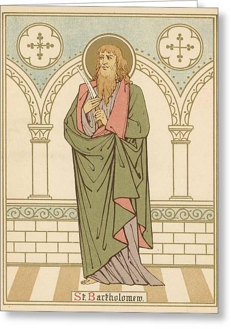 Robe Drawings Greeting Cards - St Bartholomew Greeting Card by English School
