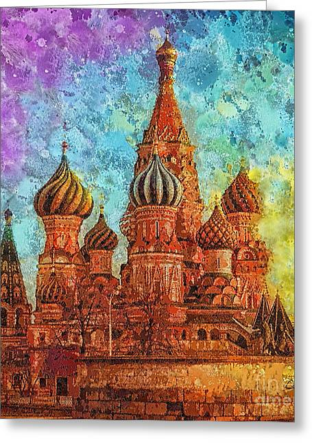 St Basils Greeting Cards - St Basil Greeting Card by Mo T