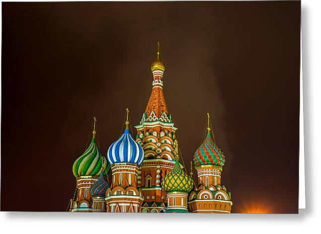 Cupola Greeting Cards - St Basils Cathedral Greeting Card by Alexander Senin