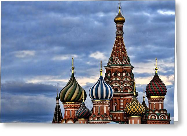 St Basils Cathedral - Moscow Russia Greeting Card by Jon Berghoff