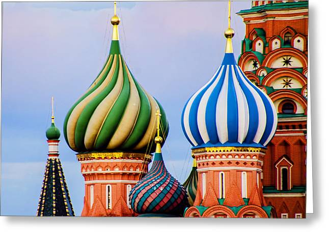 St Basils - Red Square - Moscow Russia Greeting Card by Jon Berghoff