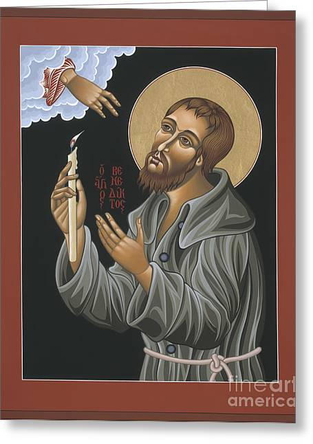 Best Sellers -  - Saint Joseph Greeting Cards - St. Benedict Joseph Labre Greeting Card by William Hart McNichols