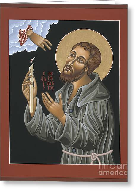 Recently Sold -  - Saint Joseph Greeting Cards - St. Benedict Joseph Labre 062 Greeting Card by William Hart McNichols