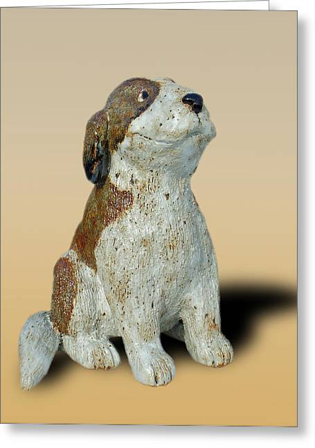 Dog Ceramics Greeting Cards - St Bernard Greeting Card by Jeanette K