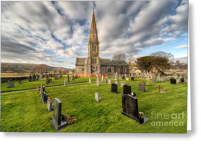 St Beuno Church Greeting Card by Adrian Evans