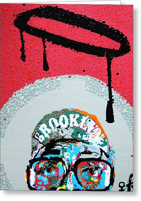 Haitian Mixed Media Greeting Cards - St. Brooklyn Greeting Card by Voodo Fe Culture