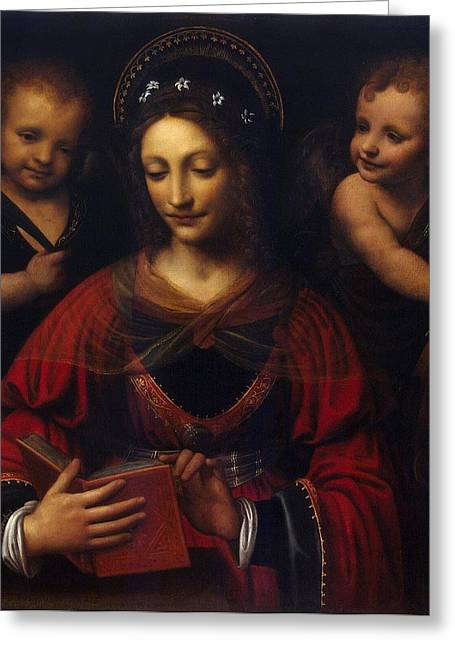 Child Jesus Greeting Cards - St Catherine  Greeting Card by Celestial Images