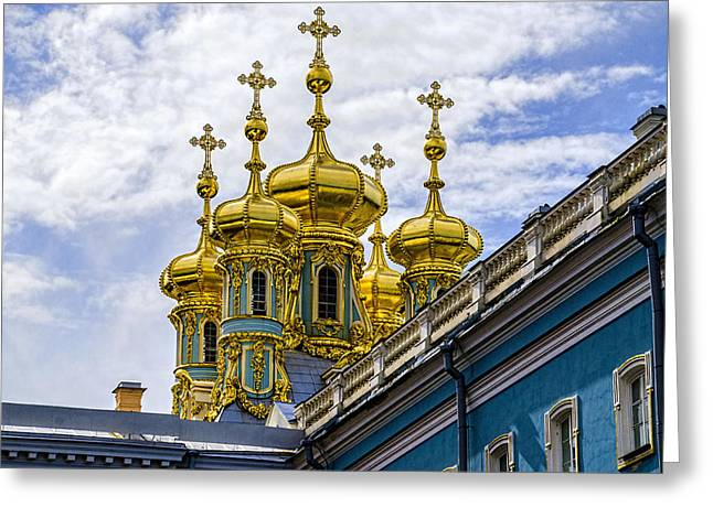St Catherine Palace - St Petersburg Russia Greeting Card by Jon Berghoff