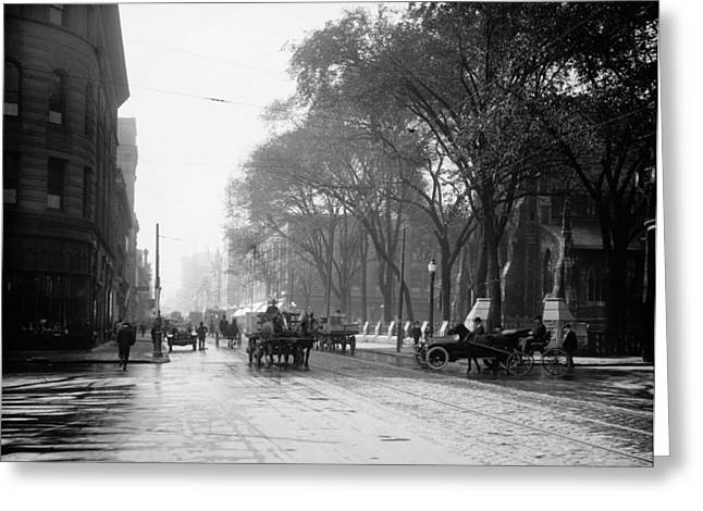 St Catherine Street - Montreal 1910 Greeting Card by Mountain Dreams