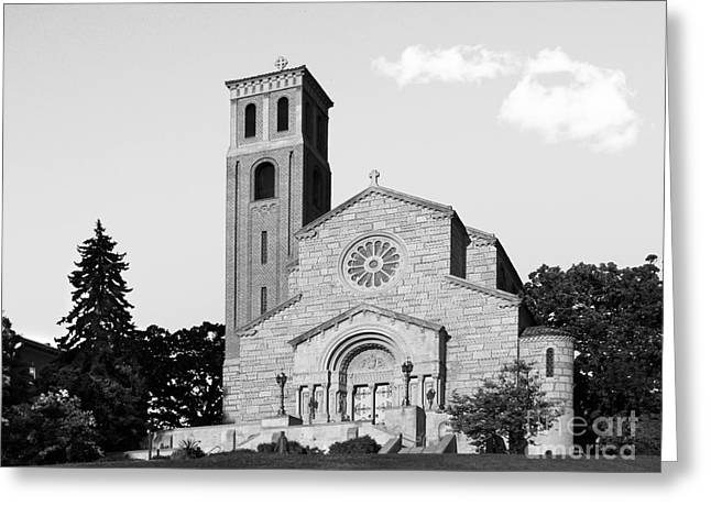 Iconic Places Greeting Cards - St. Catherine University Our Lady of Victory Chapel Greeting Card by University Icons