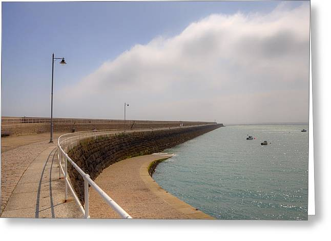 Saint-martin Greeting Cards - St Catherines Breakwater - Jersey Greeting Card by Joana Kruse