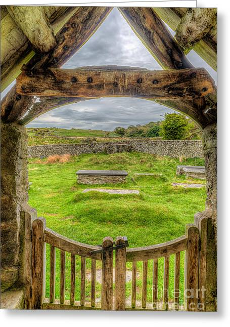 St Celynnin Graveyard Greeting Card by Adrian Evans
